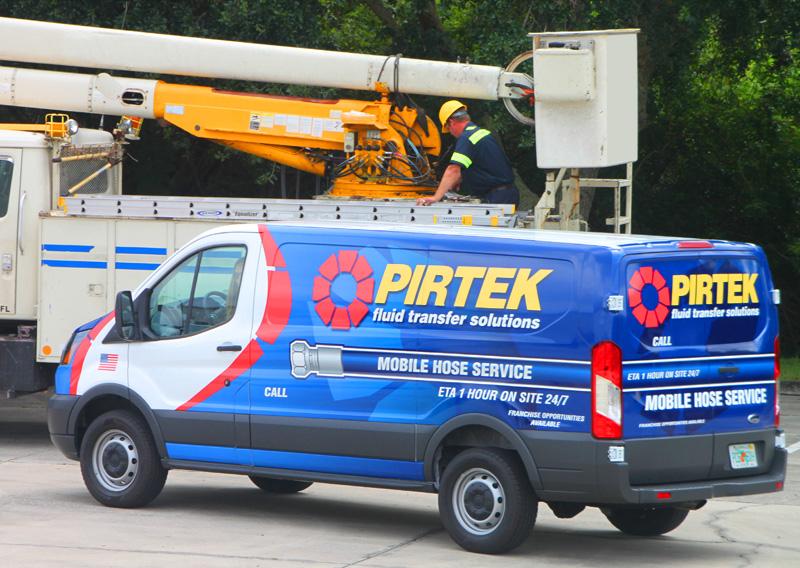 Pirtek Hydraulic Industrial Mobile Service On Site Repair And