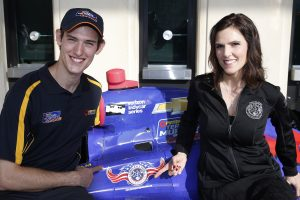St. Petersburg, Florida USA Team Murray and the Chris Kyle Frog Foundation have created a unique program that will see six military service veterans and first responders from across North America molded into a pit crew for this yearÕs 100th Indianapolis 500 celebrations in May. Pictured are driver Matt Brabham, Taya Kyle ©2016, Michael L. Levitt LAT Photo USA