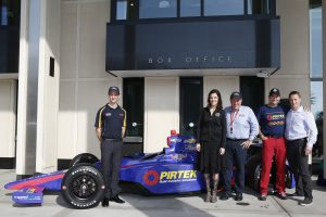 "St. Petersburg, Florida USA Team Murray and the Chris Kyle Frog Foundation have created a unique program that will see six military service veterans and first responders from across North America molded into a pit crew for this year's 100th Indianapolis 500 celebrations in May. Pictured are driver Matt Brabham, Taya Kyle, Brett ""Crusher"" Murray, Pit Crew member David Rutherford, and Pit Crew trainer Jim Leo ©2016, Michael L. Levitt LAT Photo USA"