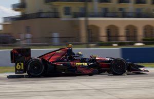 Matt Brabham turning his first laps of Sebring in an IndyCar as a PIRTEK Team Murray driver