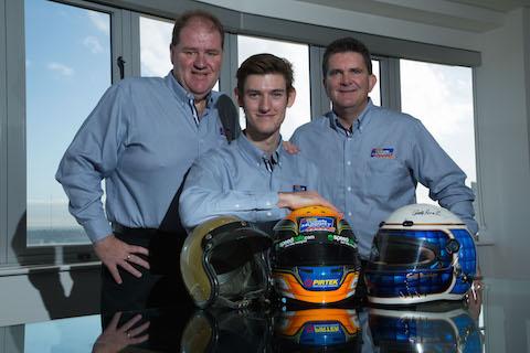 Matt Brabham is flanked by PIRTEK Team Murray owner, Brett Murray (Left) and Executive Director, PIRTEK International, Glenn Duncan at today's announcement